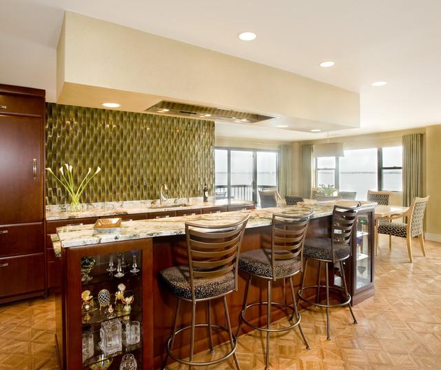 Loft Condo on the Water contemporary-kitchen
