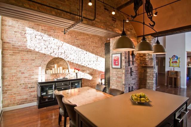 Loft Condo Renovation Industrial Kitchen Chicago