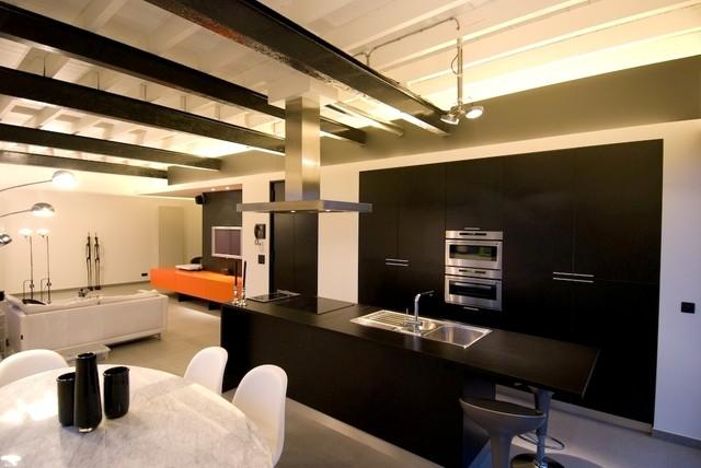 Loft in Aalst, Belgium industrial-kitchen
