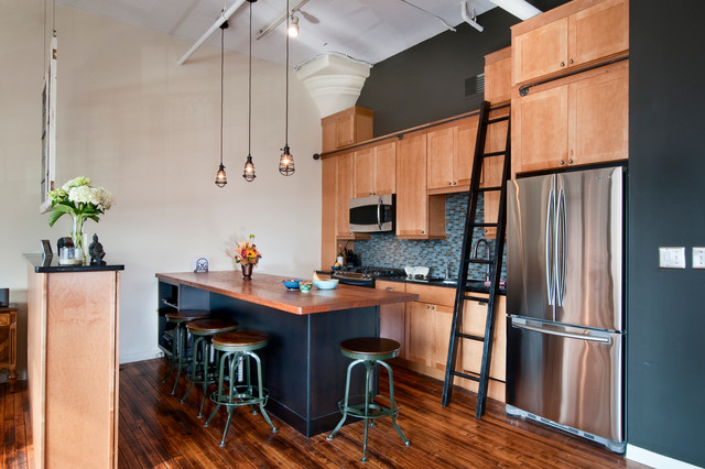 Loft Kitchen/Office/Conference Room/Storage Space - Industrial - Kitchen - Philadelphia - by J ...