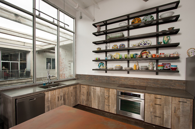 Loft kitchen eclectic kitchen atlanta by turning for Small loft kitchen designs