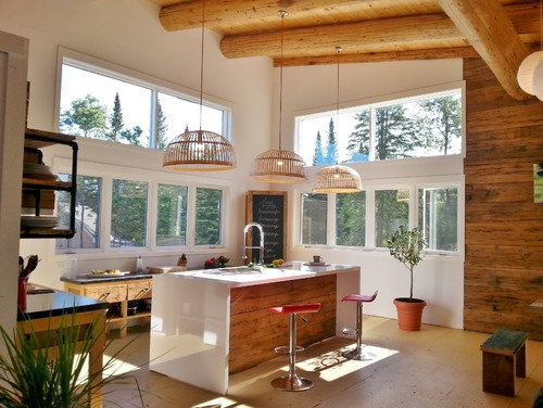 Rustic Meets Modern In This Stunning Quebec Open Kitchen