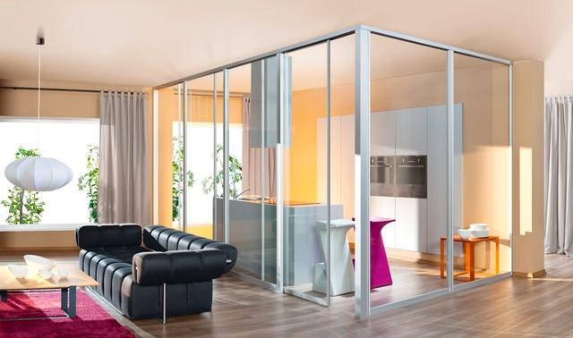 loft room divider contemporary kitchen toronto by komandor rh houzz in room dividers for loft apartments Sliding Room Dividers