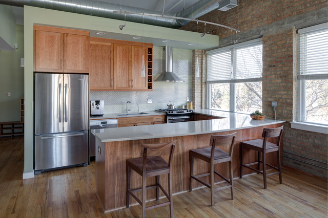 Loft Style Kitchen Contemporary Kitchen Chicago By