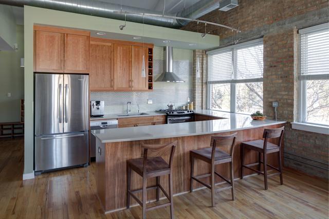 loft style kitchen modern k che chicago von lugbill designs. Black Bedroom Furniture Sets. Home Design Ideas