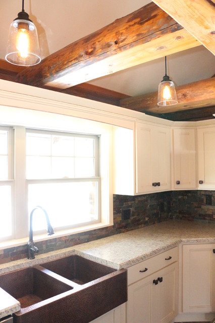 Log Cabin Rustic Kitchen Other Metro By DreamMaker Bath And Kitchen O