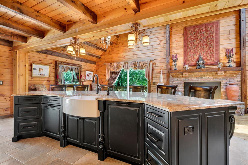 Log Cabin Kitchen Design - Rustic - Kitchen - New York ...