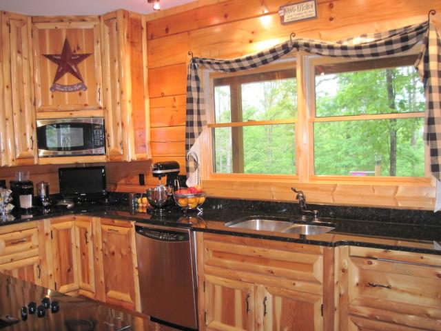Kitchen living rooms dining kitchen living dining kitchen island - Log Cabinets Kitchen Nashville By Southern Rustics Llc