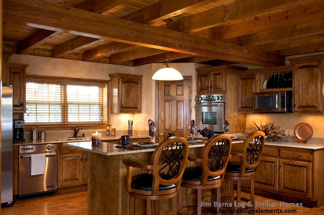 log home caldwell traditional kitchen other by