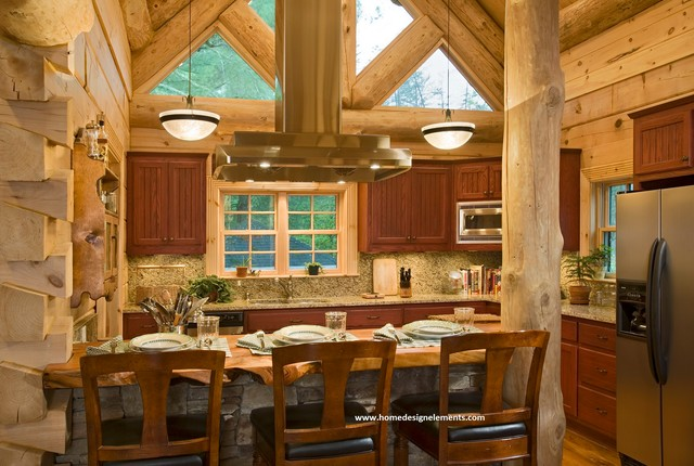 Log Home Edenfield Traditional Kitchen Other By Home Design Elements Llc