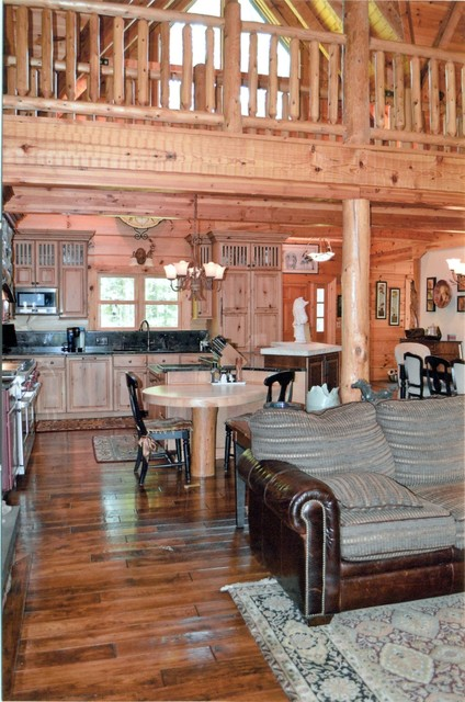 Log Home Kitchen Traditional Kitchen Cleveland By