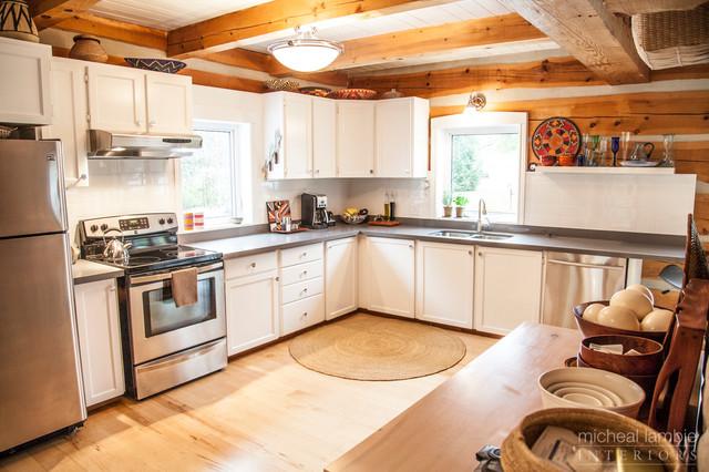 Log Home Makeover - Caledon rustic-kitchen