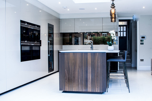 Kitchen Tiles London london kitchen - macassar glossy veneer - contemporary - kitchen