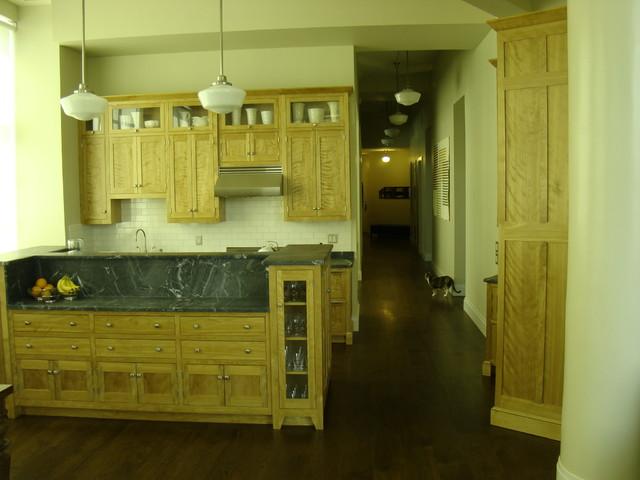 Long Island City Loft transitional-kitchen