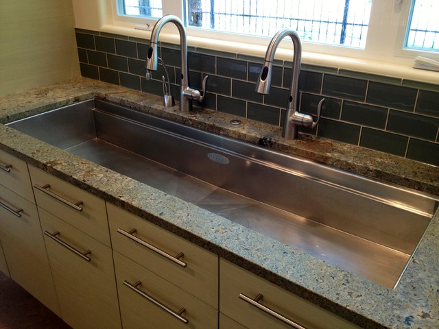Long Kitchen Sink Contemporary Kitchen Boise By