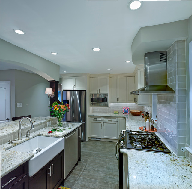 Long Narrow Kitchen Space Contemporary Kitchen