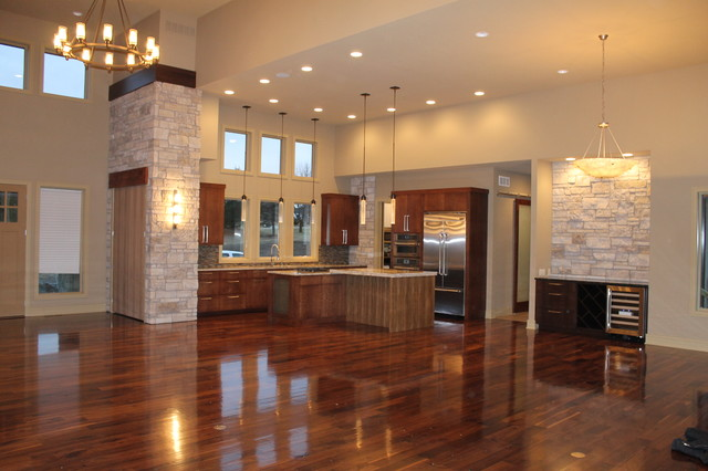long kitchen omaha by tru built construction
