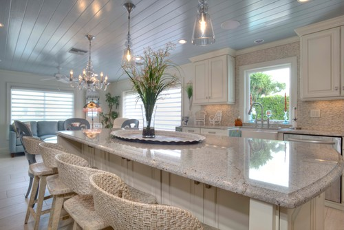 Perfect Inviting Relaxing Are The Countertops River White Granite