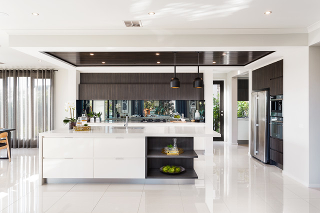 Lookbook black label contemporary kitchen melbourne for Display home kitchen gallery