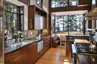 Lopez Island Residence contemporary-kitchen