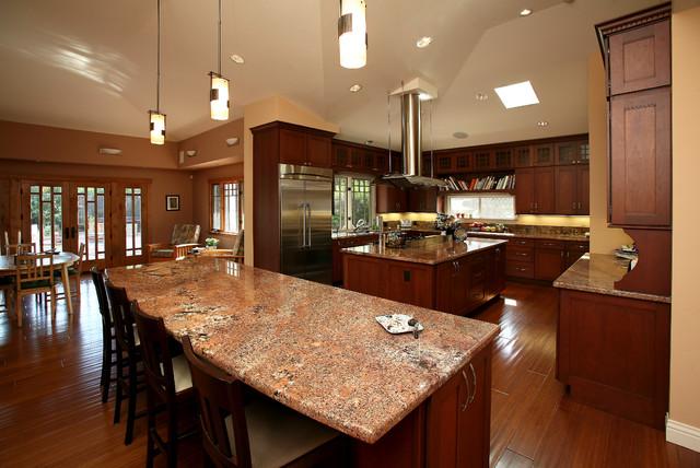 Craftsman Kitchen by M. Designs Architects