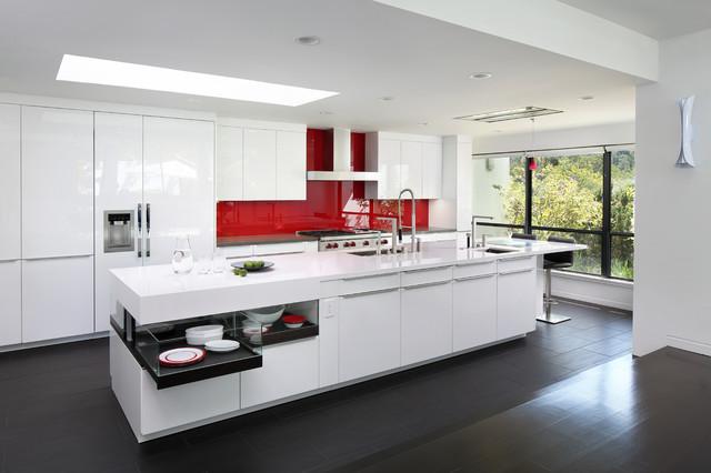 Elegant Contemporary Kitchen by Lisa Sten Harrell Remodeling Inc