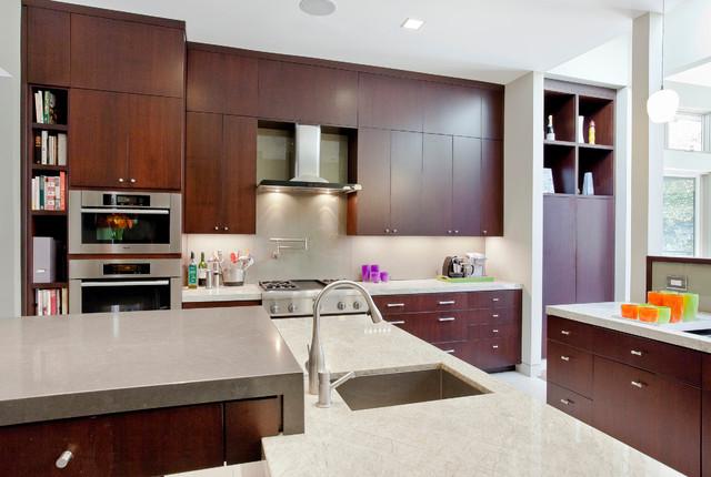 Modern Kitchen Elevation los altos home - modern - kitchen - san francisco -elevation