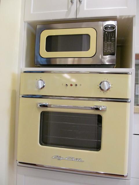 Los Altos Kitchen With Retro Appliances Eclectic