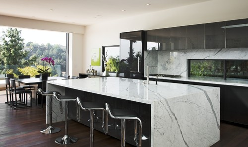 modern kitchen Wonderful Waterfall Counters