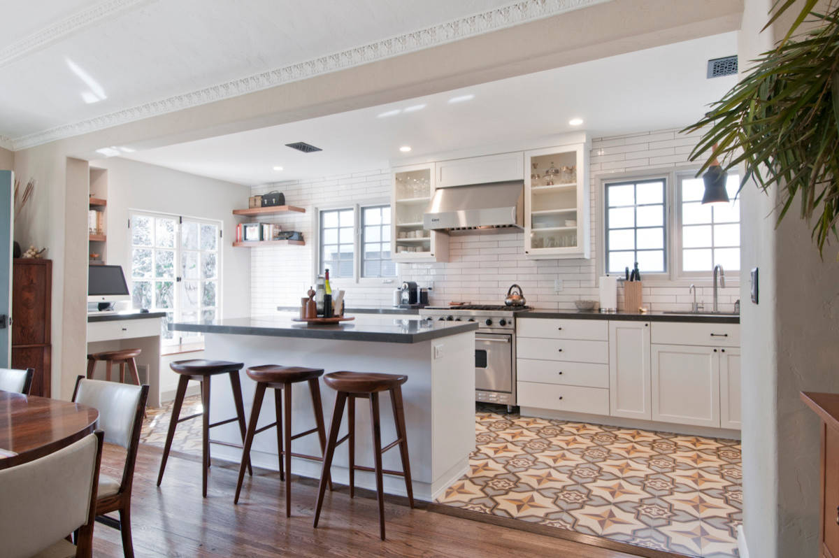75 Beautiful Cement Tile Floor Kitchen Pictures Ideas January 2021 Houzz