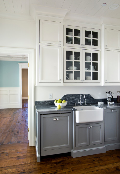 So darling! What color gray are the gray painted cabinets?