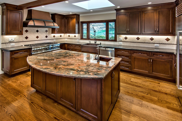 Los Gatos Kitchen Design with Cherry Cabinets