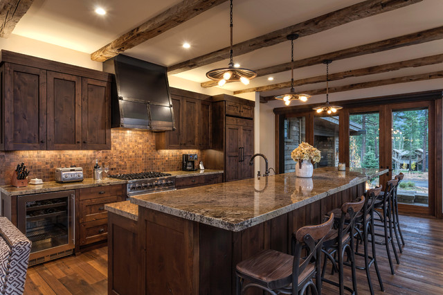 Lot 326 Martis Camp Rustic Kitchen Sacramento By Lot C Architecture