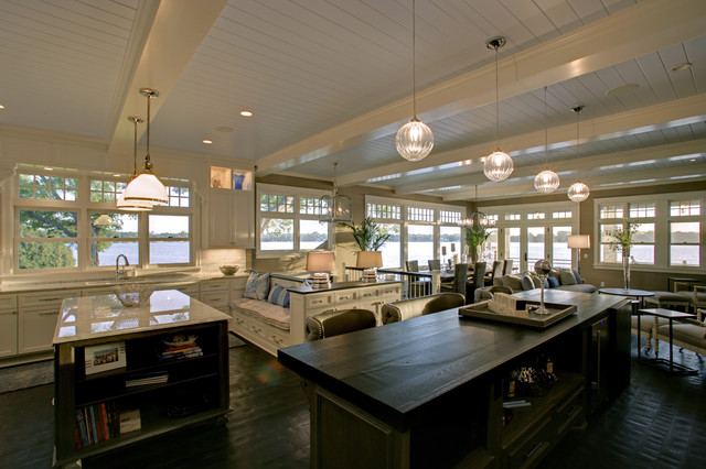 Lounging at the Lake- Lake Minnetonka contemporary-kitchen