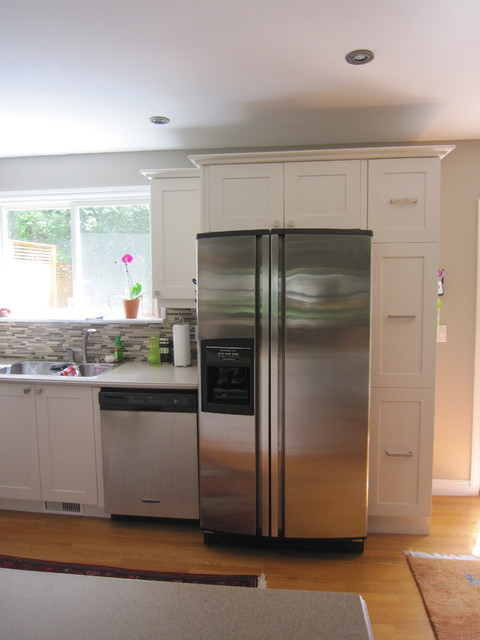 Low Cost Kitchen Refresh With Shaker Cabinets Traditional Kitchen