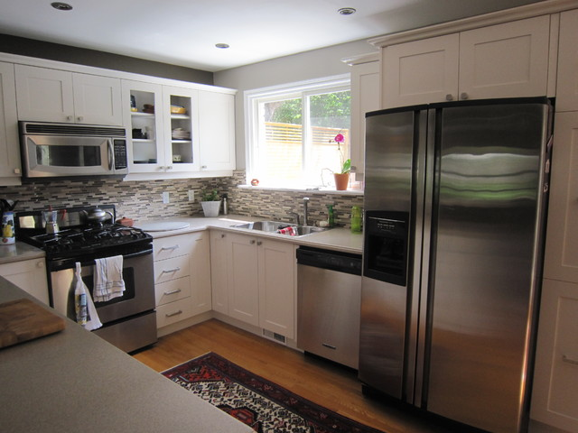 lovely Updating Existing Kitchen Cabinets #8: Low Cost Kitchen Refresh With Shaker Cabinets Traditional