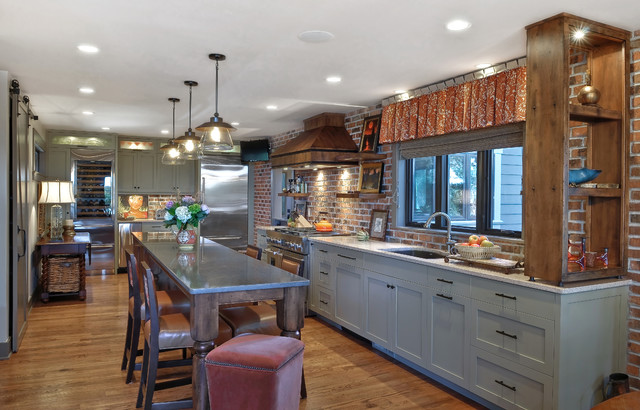 Low country transitional kitchen charleston by k - Bancos de cocina ikea ...