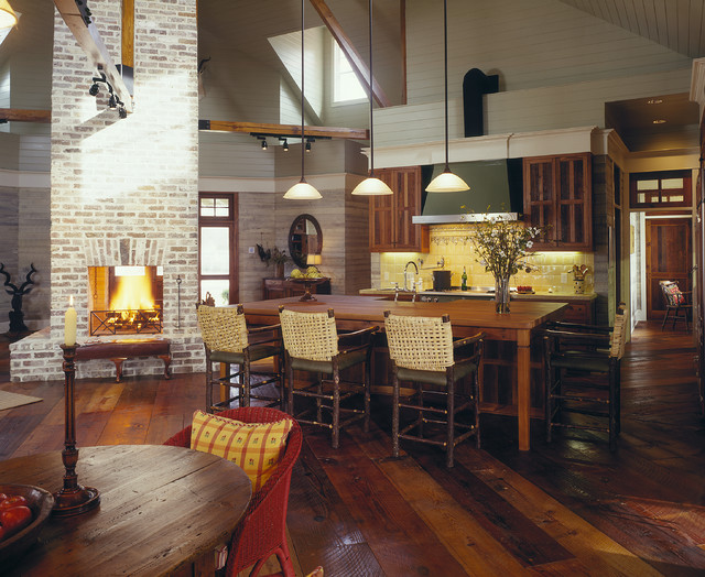 Lowcountry River House Farmhouse Kitchen Other By