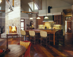 lowcountry river house traditional kitchen