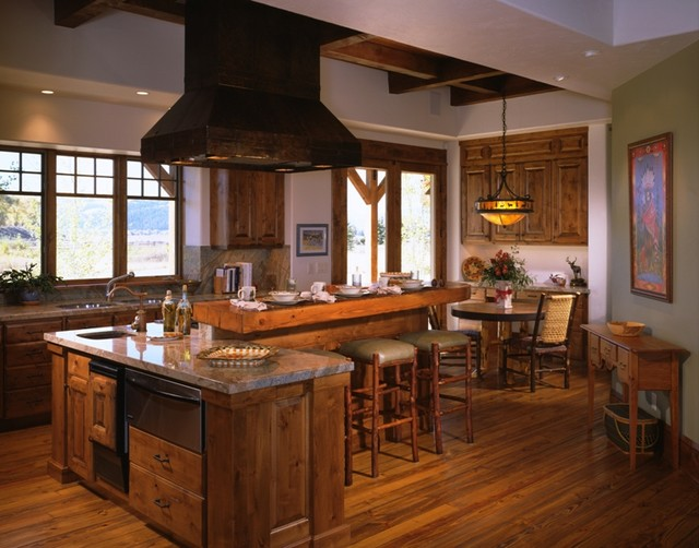 Lower cascade residence jackson hole wy traditional for Kitchen jackson hole