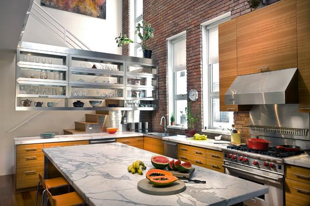 Lower East Side Condominium contemporary-kitchen