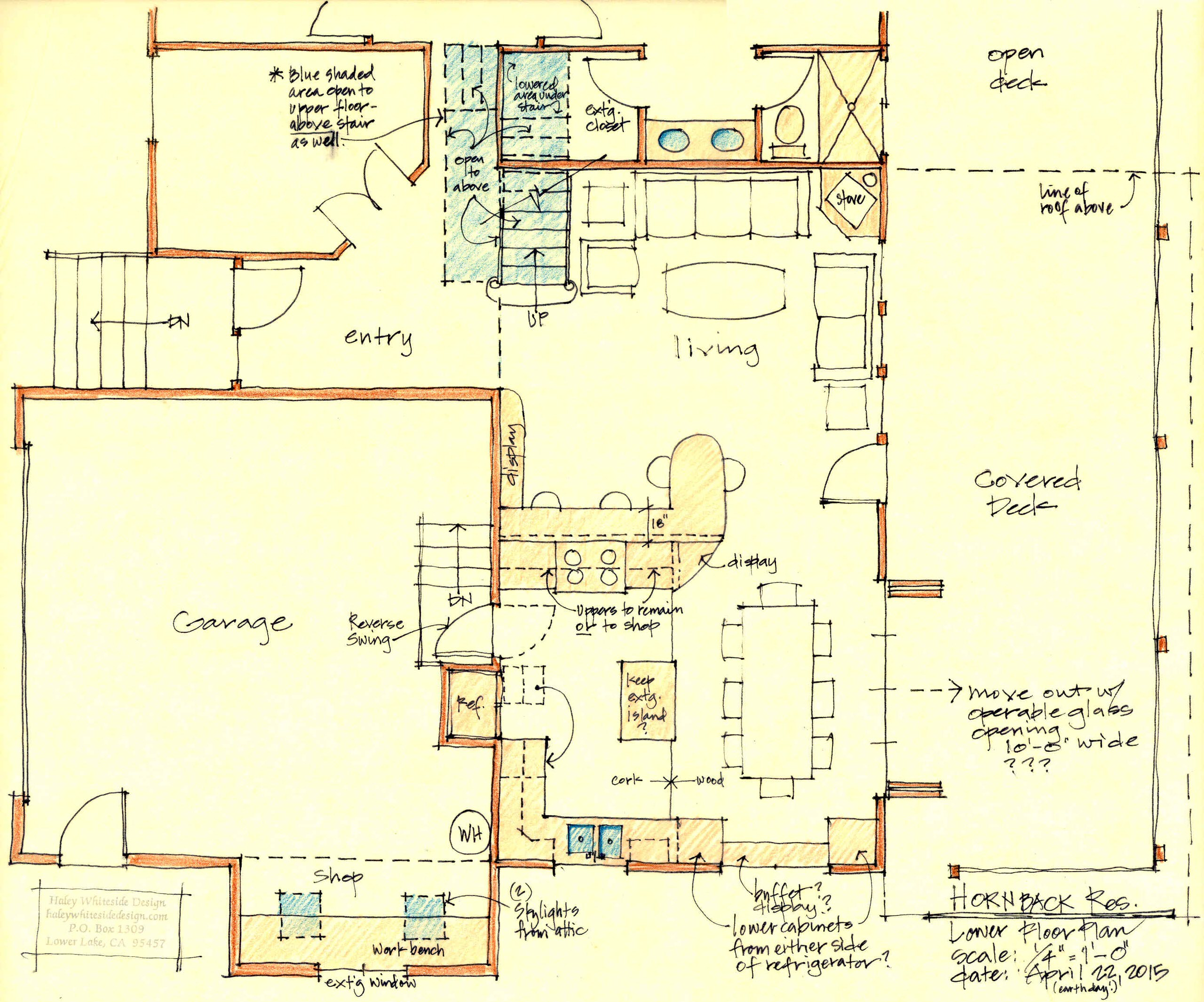 Lower Floor with Living, Dining and Kitchen suite