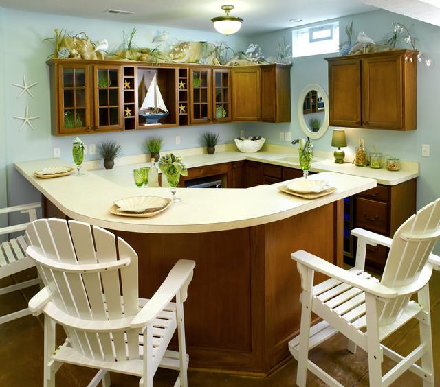 Lower Level Kitchenette beach-style-kitchen
