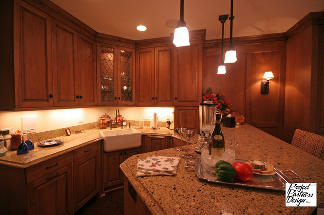 Lower Level Luxury Traditional Kitchen Chicago By Project Partners Design