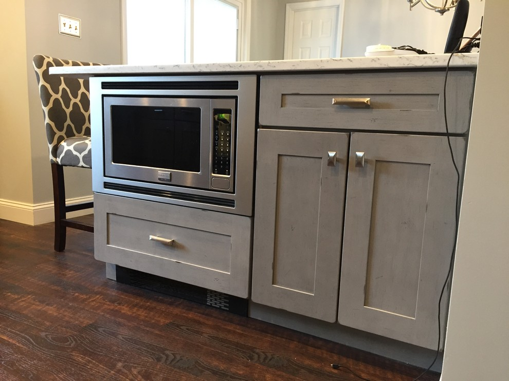 lowes: kitchen remodel, farmingville, kraftmaid- aged