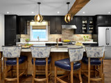Black Cabinets, Mexican Tile and a Bench Seat Define This Kitchen (5 photos)
