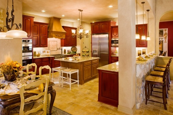 Lucca Kitchen by Sitterle Homes mediterranean kitchen