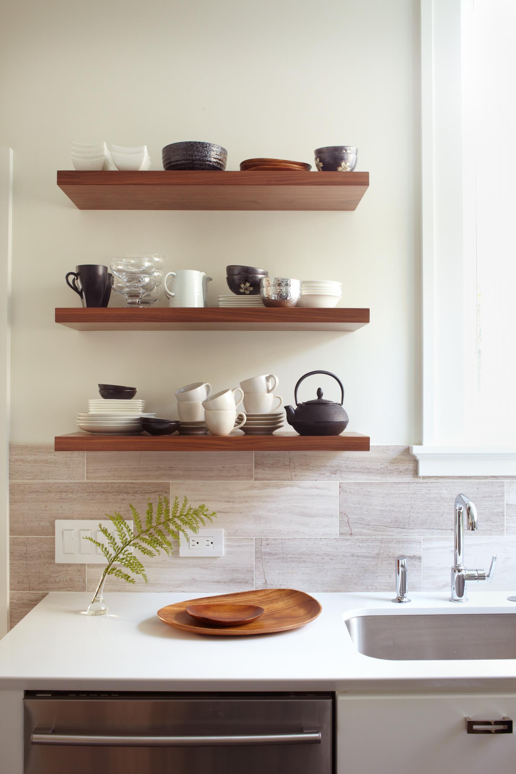 Kitchen Floating Shelf Houzz