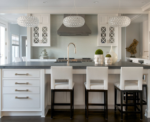 MODERN GLAM Transitional Kitchen New York By Susan Glick