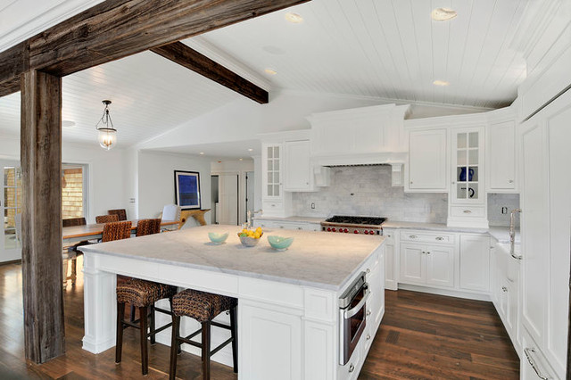 Luxurious beach house traditional kitchen newark for Traditional beach house designs